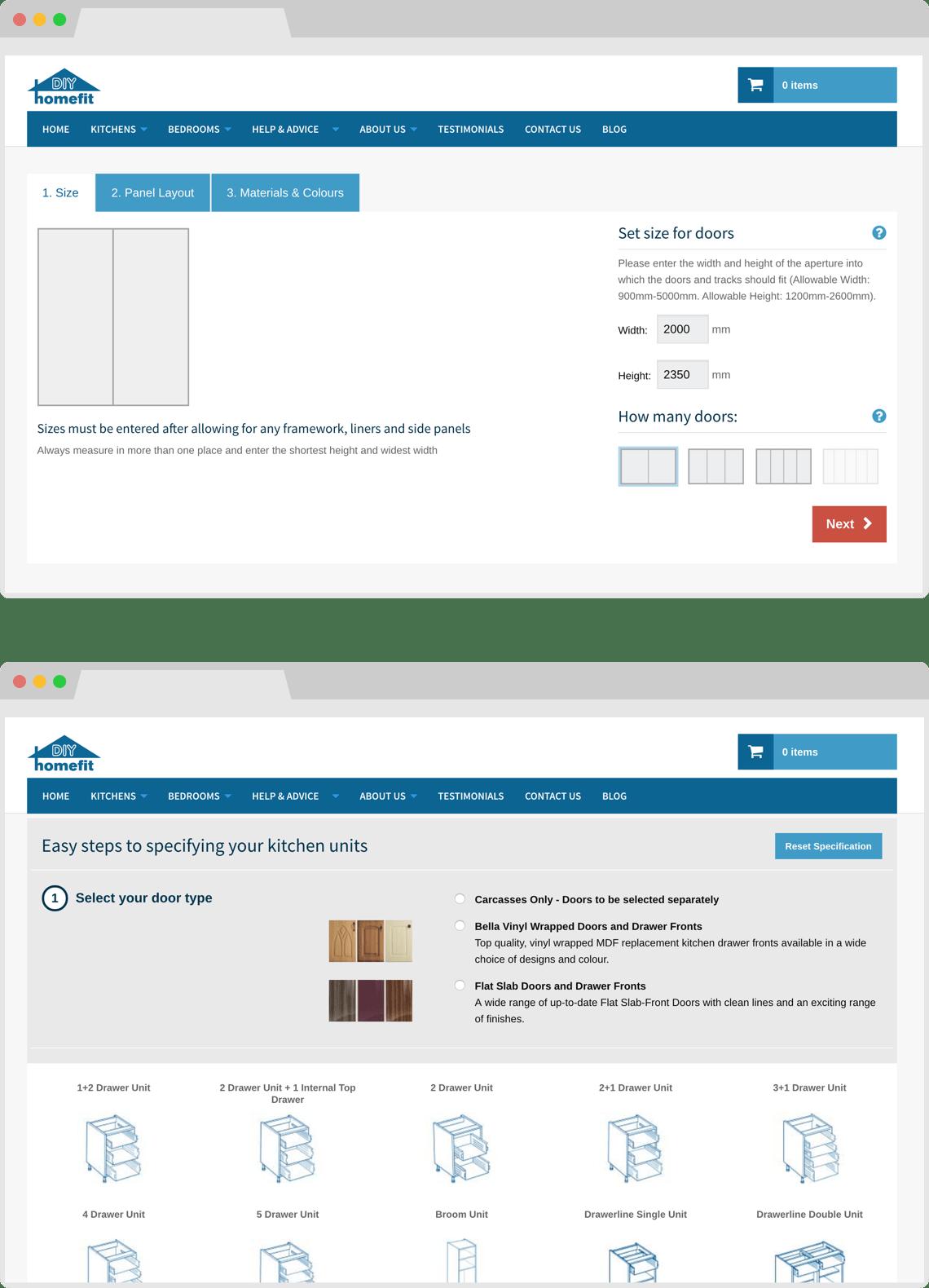 Responsive e-commerce design by HeavyGuru, London