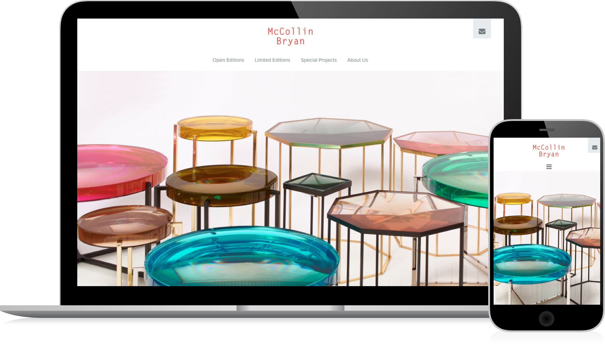 McCollin Bryan - responsive web design and Wordpress development by HeavyGuru, London