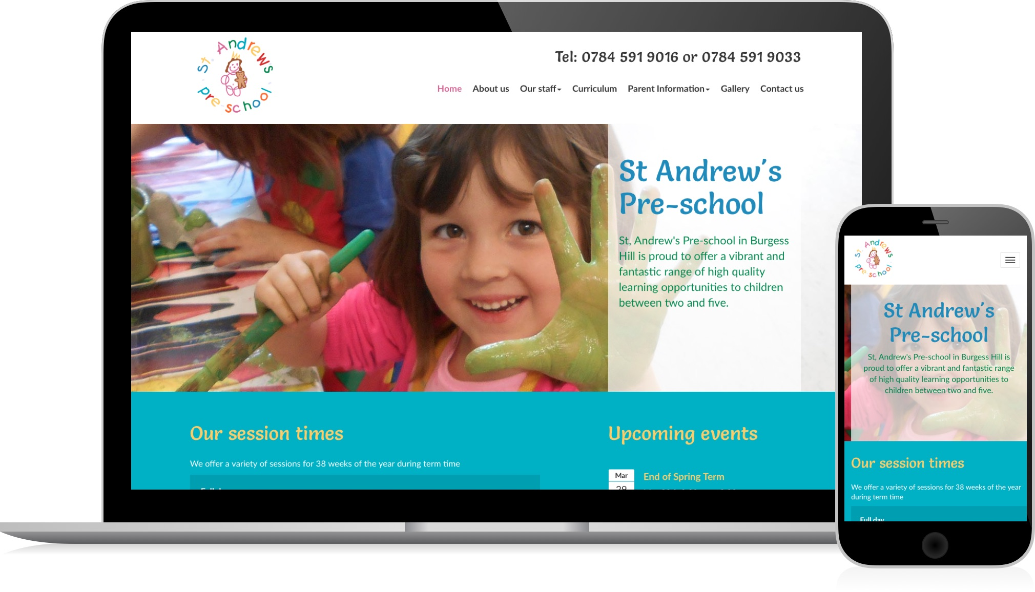 St.Andrews Pre-School - a responsive website by HeavyGuru web design, London